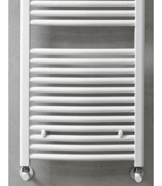 Caleido RONDINE törölközőszárító radiátor, íves 76.5x50 cm, fehér 250750