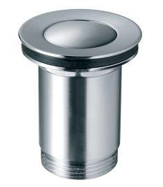 """Ferro Click-clack univerzális lefolyószelep, túlfolyós mosdóhoz, G5/4"""", szálcsiszolt nikkel S283NC"""