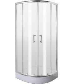 Deante JASMIN íves zuhanykabin 80x80x185 cm, átlátszó üveg, króm keret KGJ052P