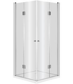 Deante KERRIA szögletes zuhanykabin, 80x80x200 cm, átlátszó üveg, króm keret KTK042P