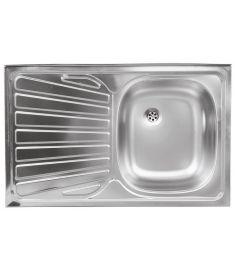 Ferro Egymedencés rozsdamentes mosogató, 50x80 cm, csepptálcás, balos DR50/80AL.H