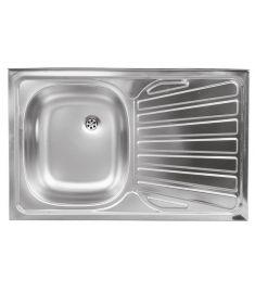 Ferro Egymedencés rozsdamentes mosogató, 50x80 cm, csepptálcás, jobbos DR50/80APTS.H