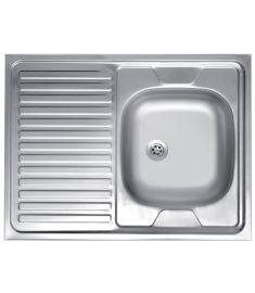 Ferro Egymedencés rozsdamentes mosogató, 60x80 cm, csepptálcás, balos DR60/80LTS.H