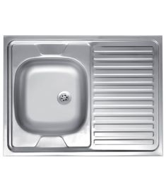 Ferro Egymedencés rozsdamentes mosogató, 60x80 cm, csepptálcás, jobbos DR60/80P.H