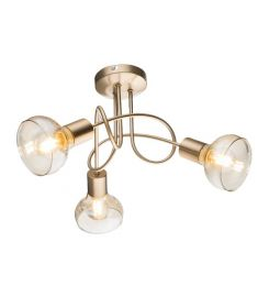 Elmark ADDY mennyezeti lámpa, 3xE14, antik arany/borostyán, 955ADDY31/G
