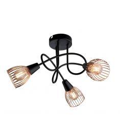 Elmark AMBIX mennyezeti lámpa, 3xE14, fekete/réz, 955AMBIX3R