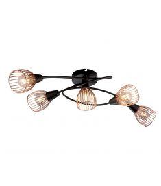 Elmark AMBIX mennyezeti lámpa, 5xE14, fekete/réz, 955AMBIX5