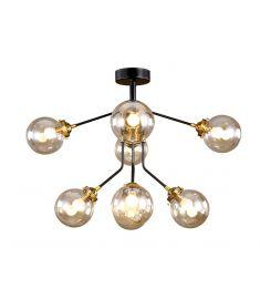 Elmark BUBBLES mennyezeti lámpa, 8xE14, fekete/borostyán, 955BUBBLES8
