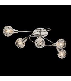 Elmark JULIE mennyezeti lámpa, 5xE14, szatén nikkel/alumínium, 955JULIE5