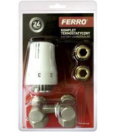 """Ferro Univerzális termosztát szett, 1/2"""", sarok ZTV02"""