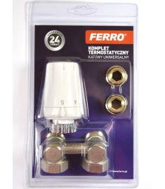 """Ferro Univerzális termosztát szett, 1/2"""", sarok ZTV08"""
