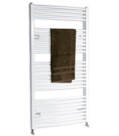AQUALINE fürdőszoba radiátor, 97x45 cm, íves, fehér ILO94