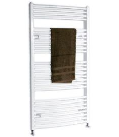 AQUALINE fürdőszoba radiátor, 97x60 cm, íves, fehér ILO96