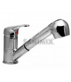 Sanimix GAEL 1 mosogató csaptelep, kihúzható zuhanyfejes MT-03 6408V