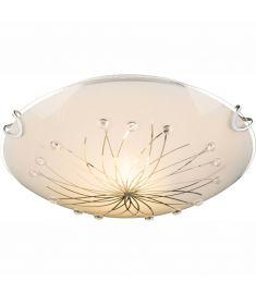 GLOBO CALIMERO I mennyezeti lámpa, króm, fehér üveg, 1xE27, ILLU, 40402-1