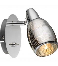 GLOBO CARSON spot lámpa, króm, üveg, króm, 1xE14 54986-1