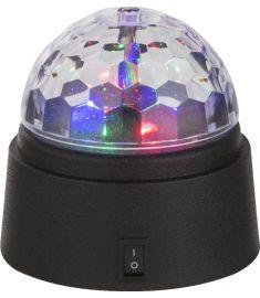 GLOBO DISCO asztali lámpa, LED, 3x0,06W, fekete 28014