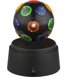 GLOBO DISCO asztali lámpa, LED, 3x0,06W, fekete 28017