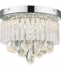 GLOBO MANILO mennyezeti lámpa, króm, akril kristály, 1 db LED izzó, 68598A