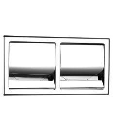 Ferro GRACE falba építhető, fedeles, dupla WC-papír tartó AC31