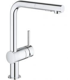 Grohe MINTA egykaros mosogató csaptelep, kihúzható zuhanyfejes, króm 30274000