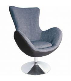 BUTTERFLY retro fotel, szürke szövet/krómozott fém, 76x75x95 cm HM0610