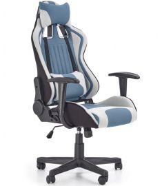 CAYMAN gamer szék, TILT mech., világosszürke/türkiz/fekete, 64x60x118-128x48-58 cm, HM1600