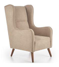 CHESTER fotel, választható színű fa lábakkal, bézs színű, 67x85x114x46 cm, HM1559