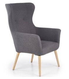 COTTO fotel, fa lábakkal, sötétszürke színű, 73x76x99x43 cm, HM1727