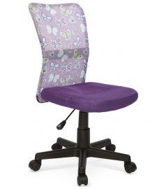 DINGO gyerek forgószék, pillangó mintás, lila színű, 41x56x86-98x43-55 cm HM1045
