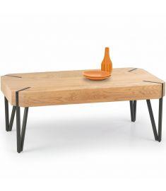 EMILY dohányzóasztal, aranytölgy/fekete színű, 110x60x42 cm HM0406
