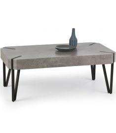 EMILY dohányzóasztal, beton/fekete színű, 110x60x42 cm HM0403