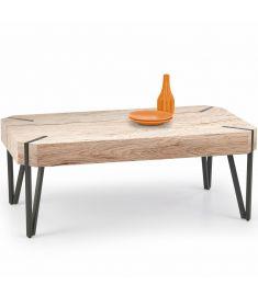 EMILY dohányzóasztal, san remo tölgy/fekete színű, 110x60x42 cm HM0405