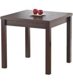 GRACJAN bővíthető étkezőasztal, sötét dió színű, 80-160x80x76 cm HM0138