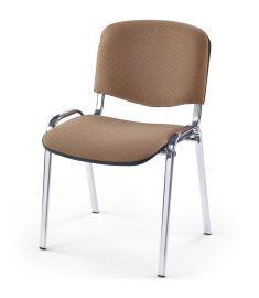 ISO irodai szék, bézs/króm színű, 53x55x82x47 cm HM1098