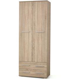 LIMA 2 ajtós, 2 fiókos ruhásszekrény, sonoma tölgy színű, 77x40x200 cm HM0275