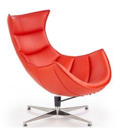 LUXOR fotel, piros/rozsdamentes acél színű, 76x84x96x36 cm, HM1742