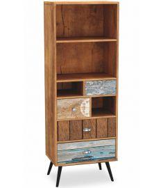 MEZO 4 fiókos, 4 polcos szekrény, multicolor, 60x29x180 cm HM0320