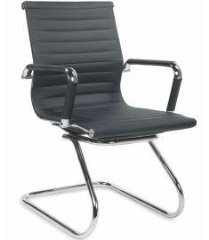 PRESTIGE SKID irodai szék, fekete/króm színű, 61x55x88x46 cm HM0915