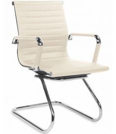 PRESTIGE SKID irodai szék, krém/króm színű, 61x55x88x46 cm HM0916