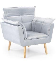 REZZO fotel, fa lábakkal, világosszürke színű, 80x73x84x44 cm, HM1750