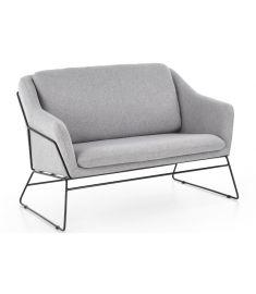 SOFT kanapé, fém lábakkal, világosszürke színű, 125x77x83x45 cm, HM1575