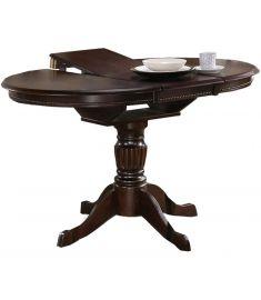 WILLIAM bővíthető étkezőasztal, sötét dió színű, 90-124x90x75 cm HM0166