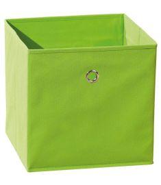 WINNY tárolódoboz, zöld színű szövet, 32x32x31 cm HM0566