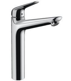 Hansgrohe Novus magasított mosdó csaptelep, automata lefolyóval, króm 71123000
