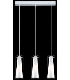 Italux CAROLE függőlámpa, E27, 3x60W, króm/fehér