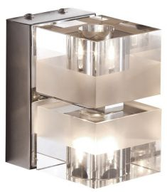 Italux CUBRIC fali lámpa, G4, 2x20W, króm