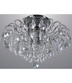 Italux FIRENZA mennyezeti kristály lámpa d48 cm, E14, 4x40W, króm/átlátszó