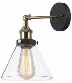 Italux GETAN fali lámpa, E27, 1x60W, fekete/arany