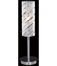 Italux HALO asztali lámpa, E27, 1x60W, króm/fehér